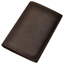 Portefeuille porte carte crédit monnaie femme homme en cuir de vachette neuf Abilly