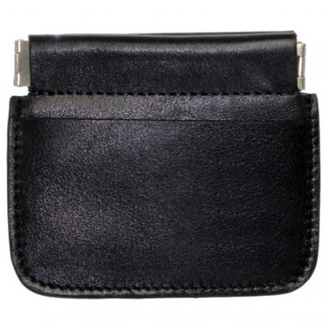 porte monnaie bourse clic clac femme homme en cuir vachette neuf Abbans
