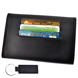 étuis enveloppe portefeuille carte grise permis en cuir vachette neuf Abitain