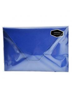 porte papiers de voiture enveloppe à bouton pression permis de conduire la carte grise carte bleue en croûte cuir Mazlum
